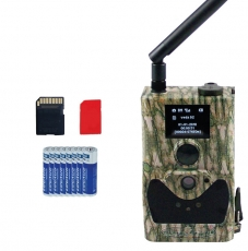 Spar set MMS GPRS 14 MP HD Wildkamera incl. Super SIM, 8 Batterien