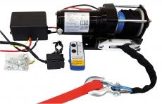Profi-Seilwinde 12 V, 2700 kg  Synthetikseil