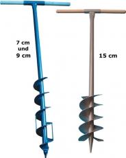 Erdlochbohrer 7 cm, 9 cm oder 15 cm
