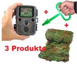 Sonderangebot - Mini 16 MP Wildkamera + Waidlochauslöser + Tarnnetz