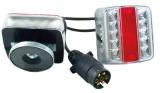 LED Anhänger-Vierfunktionsl. 7,5 m, Magnet, 13 poligem Stecker
